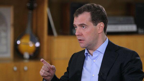 Президент РФ Д.Медведев провел встречу с местными СМИ
