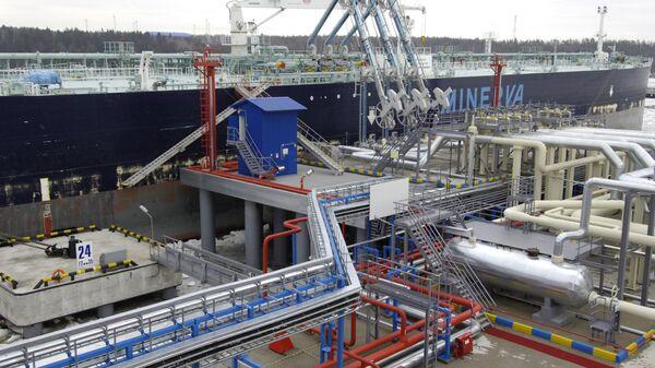 Балтийская трубопроводная система в порту Приморск. Архивное фото