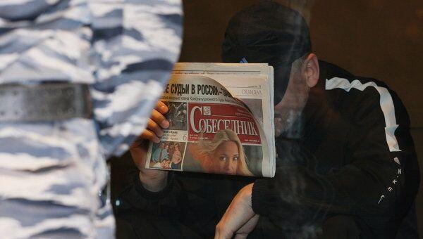 В.Барсуков в Мосгорсуде во время оглашения приговора