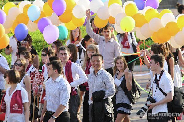 Шествие студентов в честь дня рождения ТГУ