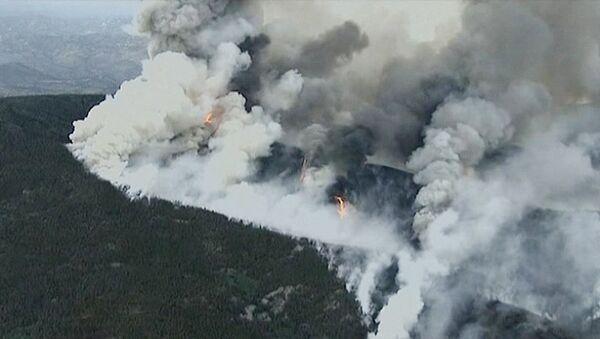 Дым от лесного пожара