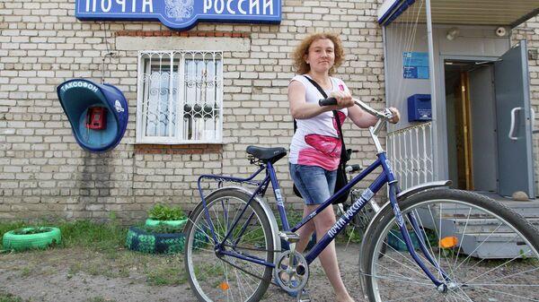 Почтальон на велосипеде
