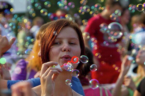 Флешмоб Мыльные пузыри