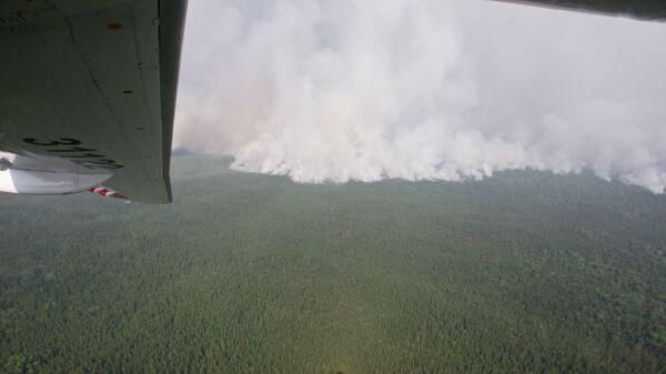 Облет пожаров в Томской области
