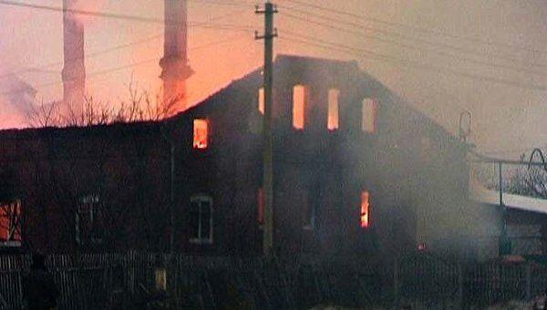 Дом священника в Подмосковье выгорел дотла. Кадры с места ЧП