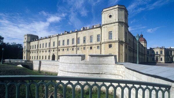 Большой  Гатчинский  дворец. Архивное фото