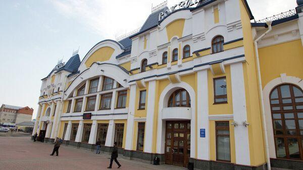 Томский железнодорожный вокзал, архивное фото