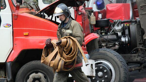 Пожар в Москве. Архивное фото.