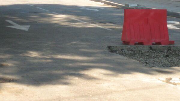 Перекрытие улицы, фото из архива