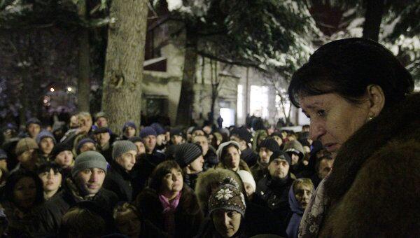 Алла Джиоева выступает перед своими сторонниками