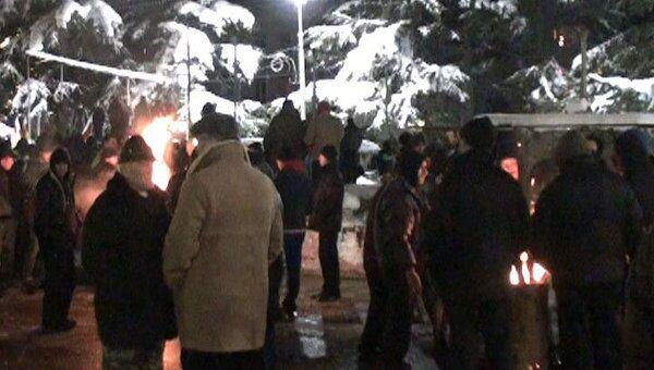 Сторонники Джиоевой разбили палаточный лагерь в заснеженном Цхинвали