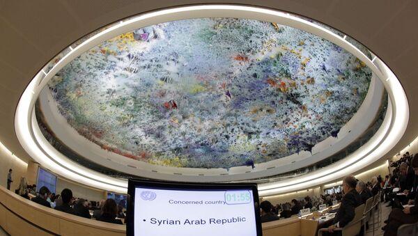 Заседание Совета по правам человека ООН по ситуации в Сирии