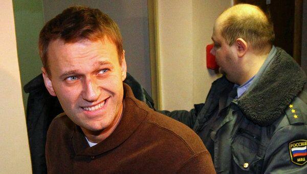 Блогер А.Навальный доставлен в Тверской суд Москвы