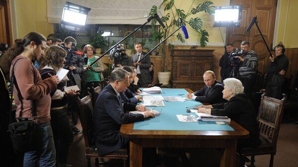 Премьер-министр РФ В.Путин посетил ГМИИ имени Пушкина