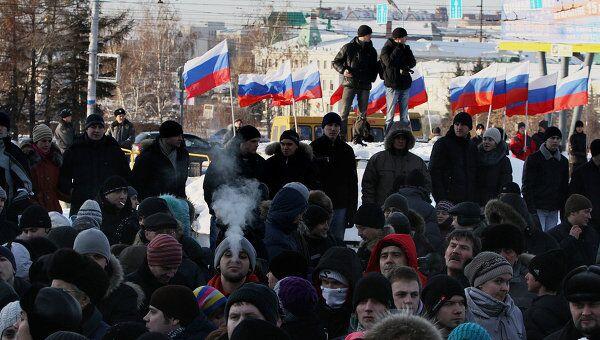 Митинг За честные выборы в Омске