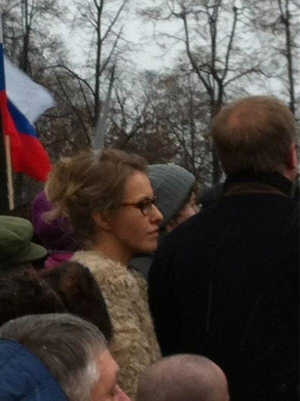 Ксения Собчак на митинге в защиту честных выборов