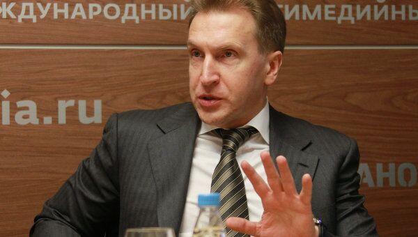 Первый вице-премьер РФ Игорь Шувалов. Архив
