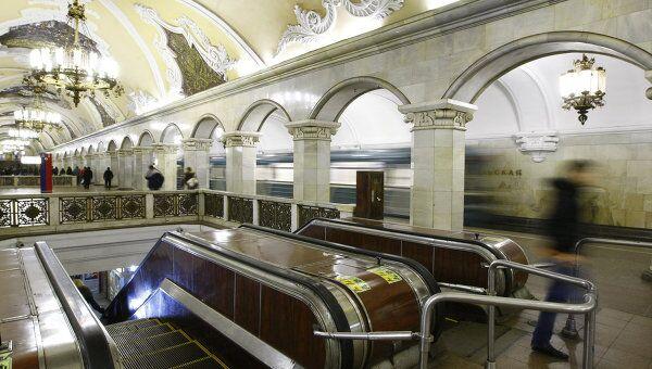 Станция Кольцевой линии Московского метрополитена Комсомольская. Архив