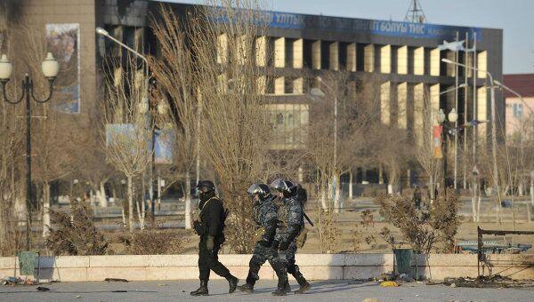 Обстановка в Жанаозене в Казахстане