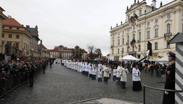 Церемония похорон экс-президента Чехии Вацлава Гавела в Праге