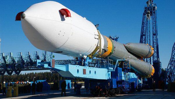 Ракета-носитель Союз прибыла на стартовый комплекс