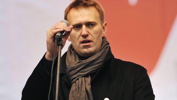 Блогер Навальный на митинге оппозиции За честные выборы в Москве