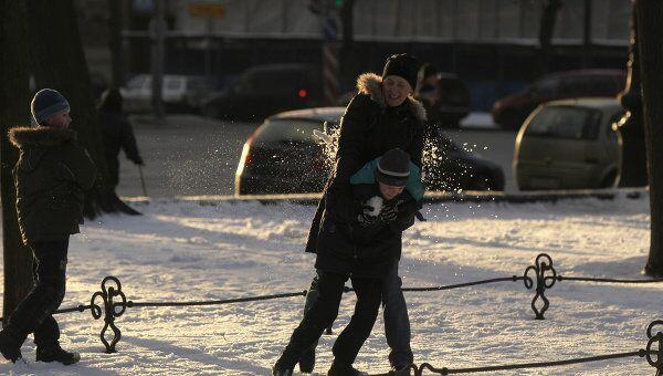 Зимний отдых горожан в Санкт-Петербурге. Архивное фото