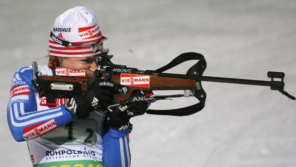 Российская биатлонистка Анна Булыгина