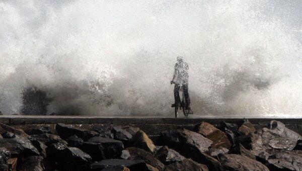 Ливневые дожди и сильный ветер, вызванные циклоном Тан (Thane), обрушились в пятницу на юго-восточное побережье Индии