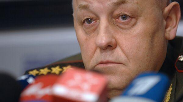 Начальник Генштаба Вооруженных сил РФ, генерал армии Юрий Балуевский во время пресс-конференции
