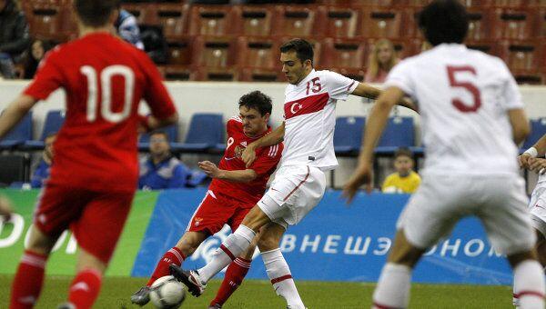 Игровой момент матча юношеских сборных России и Турции