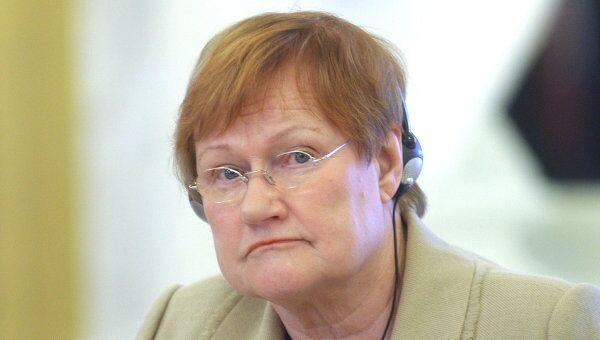 Президент Финляндии Тарья Халонен
