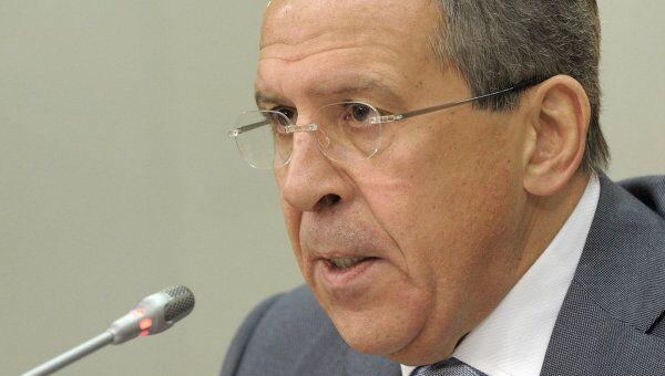 Глава Министерства иностранных дел РФ Сергей Лавров