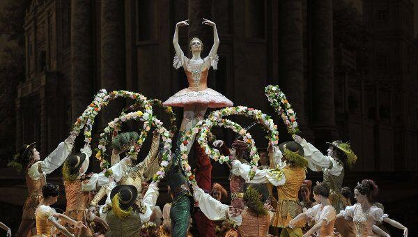 Репетиция балета Спящая красавица в Большом театре