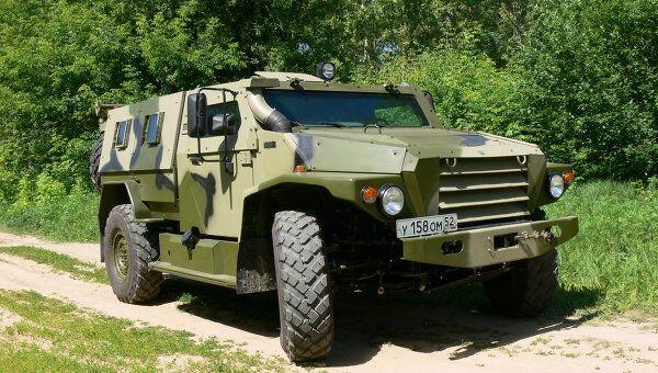 Защищенный модульный автомобиль ВПК-3927 Волк I, который поступит на вооружение российской армии.
