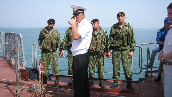 Морская пехота ТОФ, участвовавшая в освобождении танкера Московский университет от пиратов