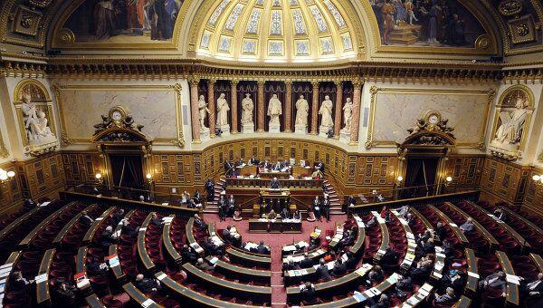Зал Сената Франции. Архивное фото
