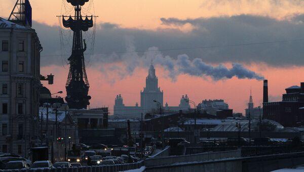 Сильные морозы в Москве. Архивное фото