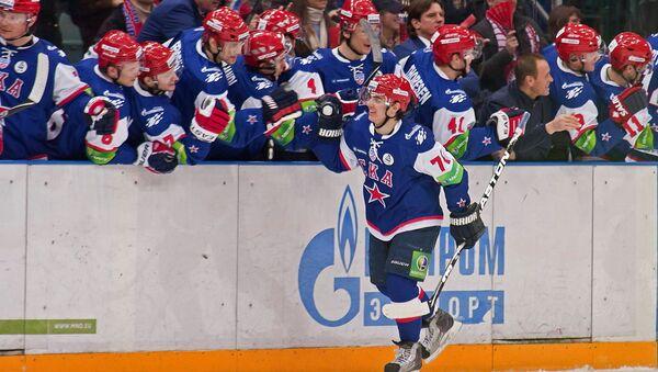 Хоккеисты СКА обыграли московское Динамо в домашнем матче КХЛ