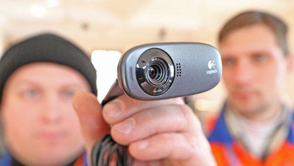 Установка веб-камер на избирательном участке города Балтийска