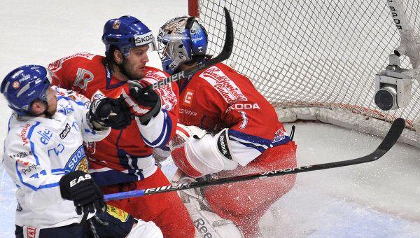 Игровой момент матча Финляндия - Чехия