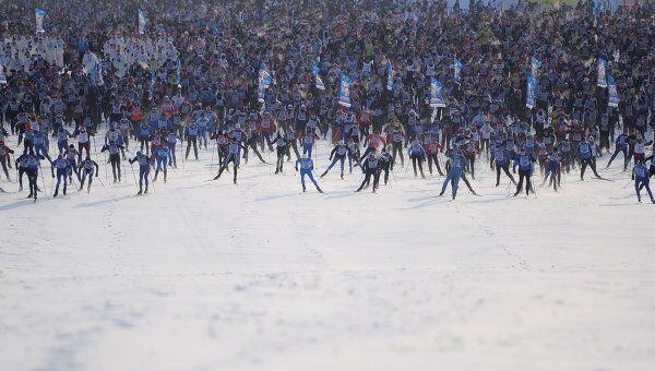 XXХ Всероссийская массовая лыжная гонка Лыжня России в Москве