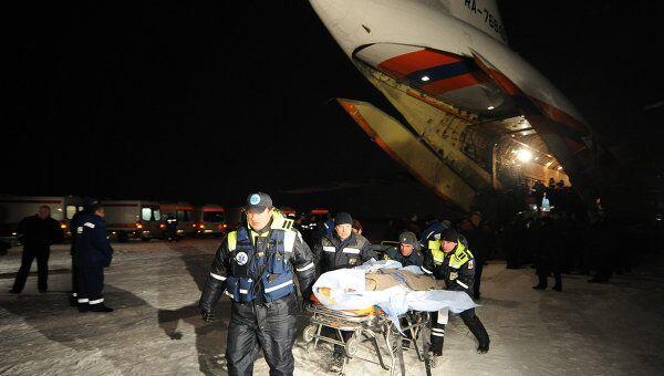 Пострадавших при пожаре в волгоградском кафе доставили в Москву