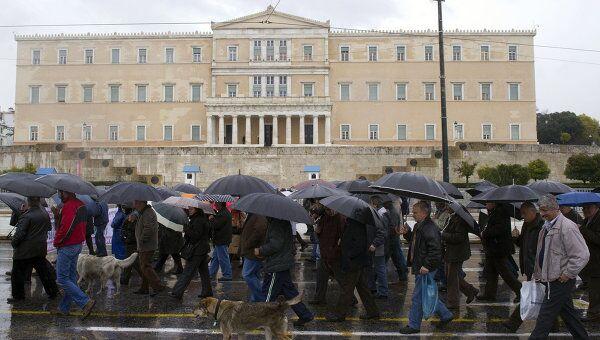 Демонстрация в Греции. Архивное фото