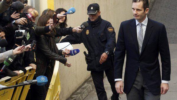 Герцог Пальма-де-Майоркский Иньяки Урдангарин перед началом суда