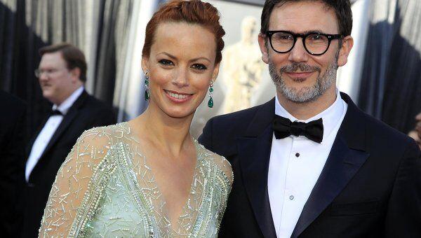 Мишель Хазанавичус с женой на церемонии вручения Оскара