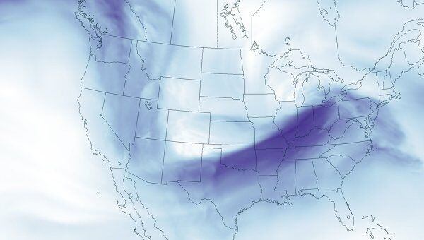 Продвижение торнадо по территории США