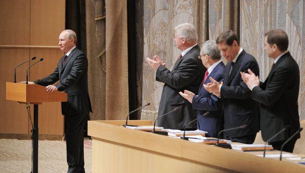 В.Путин на заседании коллегии Минздравсоцразвития России