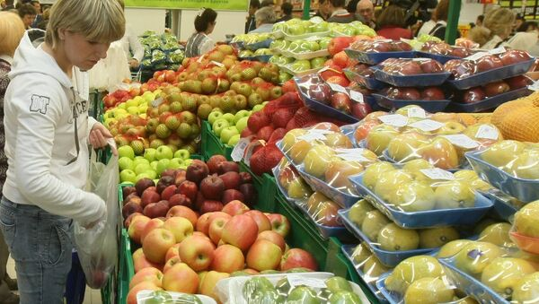 Овощи и фрукты. Архивное фото.