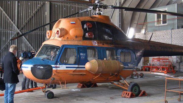 Вертолет Ми-2, на котором была совершена попытка побега из вологодской колонии